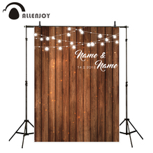 Allenjoy wedding backgrounds for photography studio wood board party customize original design backdrop professional photocall