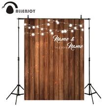 Allenjoy خلفيات الزفاف للتصوير الفوتوغرافي استوديو سبورة خشبية حفلة تخصيص التصميم الأصلي خلفية التصوير الفوتوغرافي المهنية