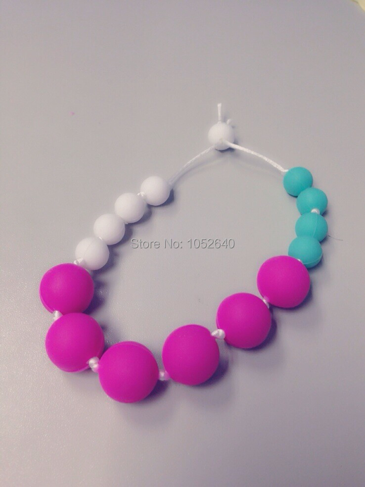 Silicone Teething Necklace For Mom Nursing Babywearing Baby Teether Toys