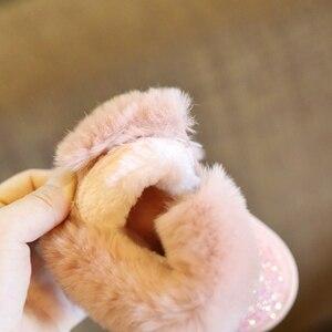 Image 5 - Claladoudou 12 18CM enfants filles Bling Bling bottes de neige 1 2 3 6 ans bébé fille bottines gris bébé chaussures bambin chaussons 11