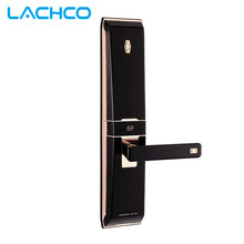 LACHCO Biometrische Türschloss Digitale Touchscreen Keyless Fingerabdruck + Kennwort + RFID Karte + Schlüssel 4 wege Schiebe abdeckung L16012GB