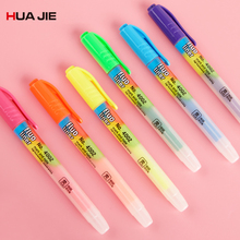 Candy Color Highlighter Pen Creative Marker Drawing Painting Fluorescent Student Supplies Office School Stationery 4002