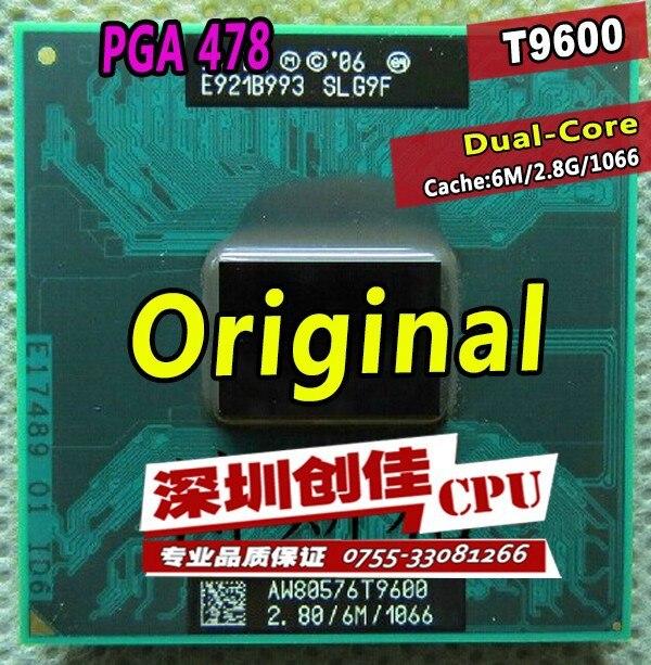 Бесплатная доставка процессоров Intel Ноутбук Core 2 Duo T9600 Процессор 6 м кэш/2.8 ГГц/1066/Dual -core socket 479 процессор T9900 P9600 GM45 PM45