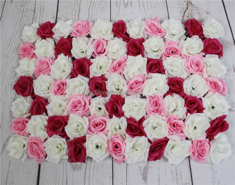 SPR mix färg Leverans 60 * 40cm Konstgjord silke ros blomma vägg - Semester och fester