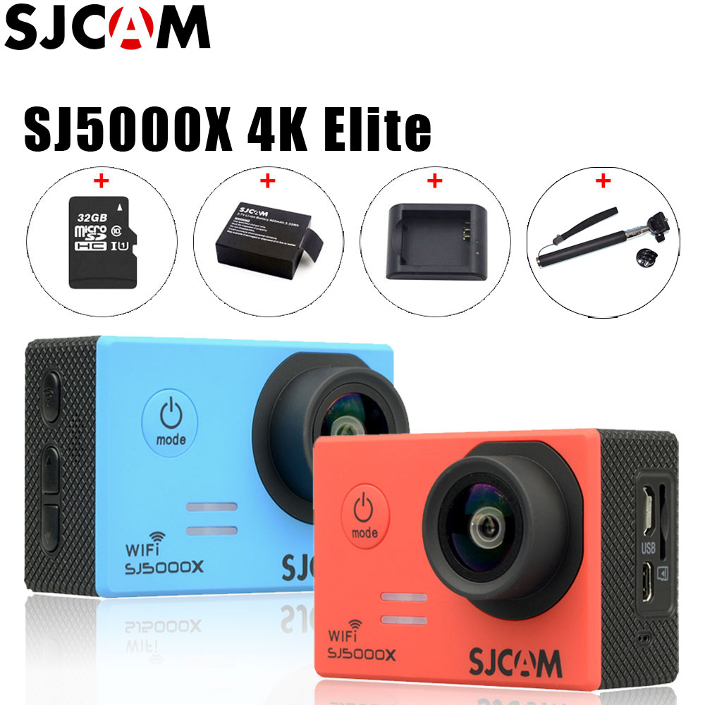 100 Original SJCAM SJ5000X Elite WiFi 4K 24fps 2K 30fps Gyro Diving 30m Waterproof Sport Action