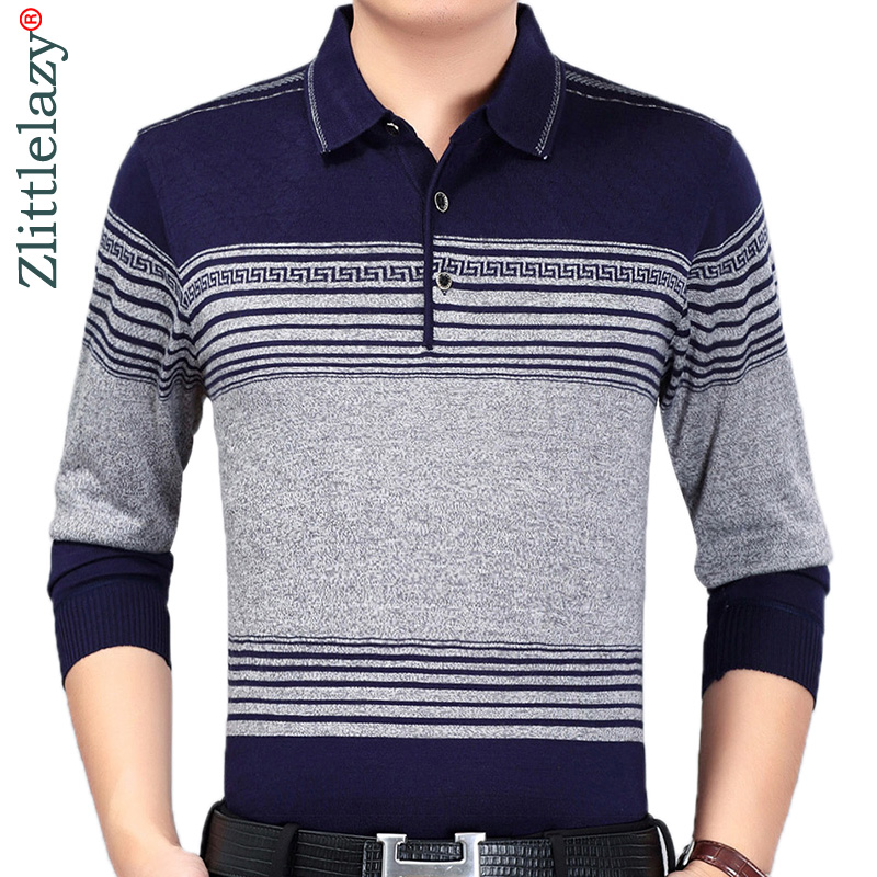 2019 designer brand long sleeve slim fit   polo   shirt men casual jersey striped mens   polos   vintage luxury quality tee shirt 41304