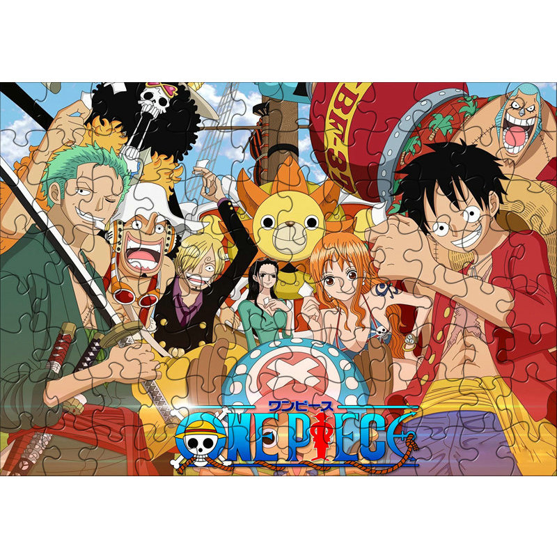 120pcs/pack One Piece Anime Puzzles Toys Children Paper Jigsaw Educational Puzzles Toys For Kids Juguetes Brinquedos