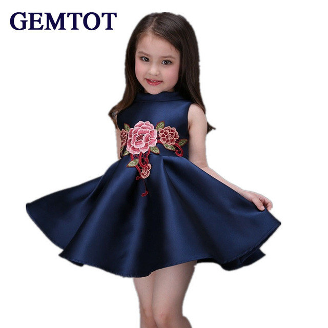 7338f13f5 GEMTOT 2017 Spring Summer high end European American girls dress ...