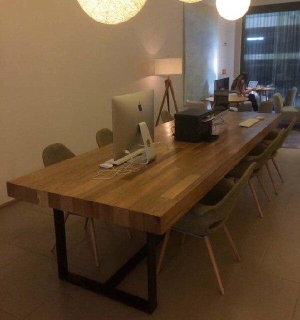 Madera sólida de encargo mesas y sillas de comedor LOFT americano ...