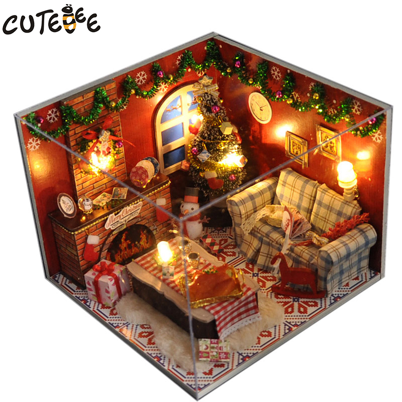 Doll House Miniature DIY Dollhouse With Furnitures Wooden House Christmas House Toys For Children Birthday Gift TW8
