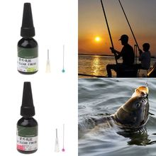20ml UV Glue Fly Fishing Thick/Flow Flies Binding Clear Finish Instant Dry Cure hot sales fishing quick drying glue fly tying lure uv clear finish glue flow hard type uv resin glue diy fishing accessories