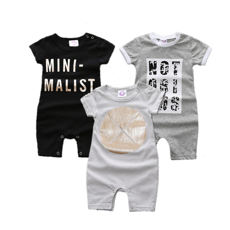 Girls Boys Printing Jumpsuits Baby Cotton Short Sleeved Rompers Kids Garments Baby Clothing Infant Rompers Bodysuits & One-pieces Boys' Baby Clothing