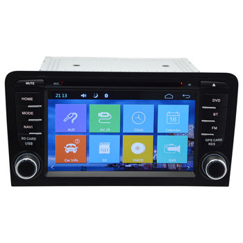 Capacitive Screen Autoradio 2 Din Car DVD Player for Audi A3 S3 2003-2012 Stereo Headunit with Built-in GPS Sat Navi Free Map image