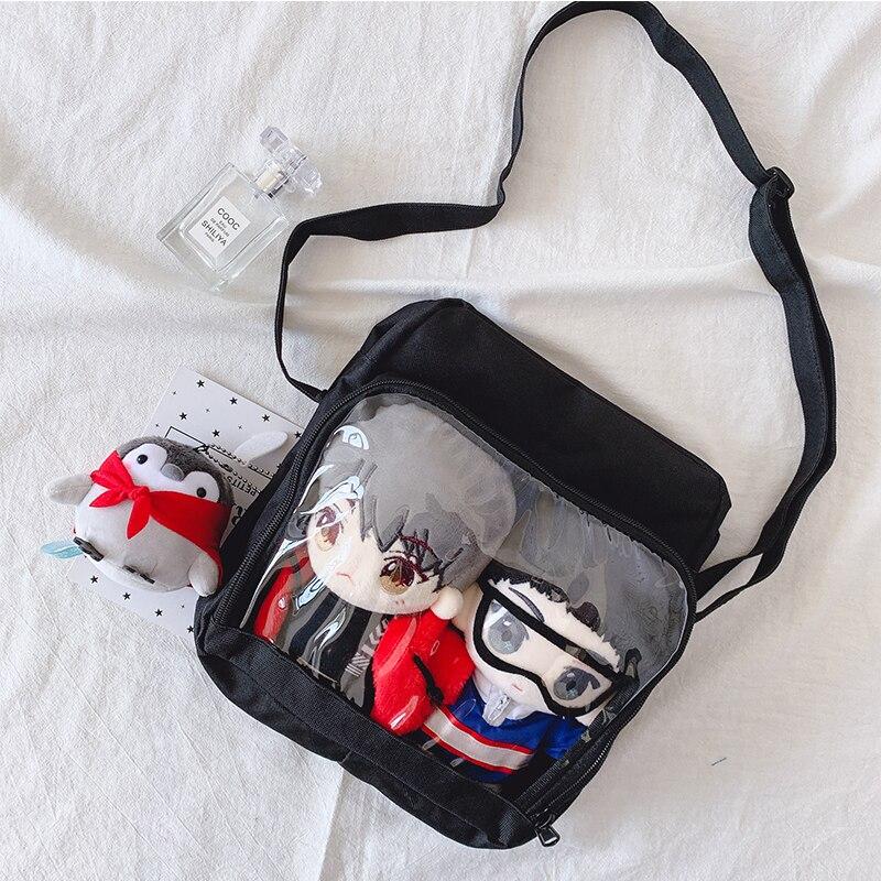 Single Canvas Ita Bag 20cm Baby Bag Shoulder Bag Diagonal Crossbag Large Capacity Cute Girl Handbag Messenger Bag 12 Colors
