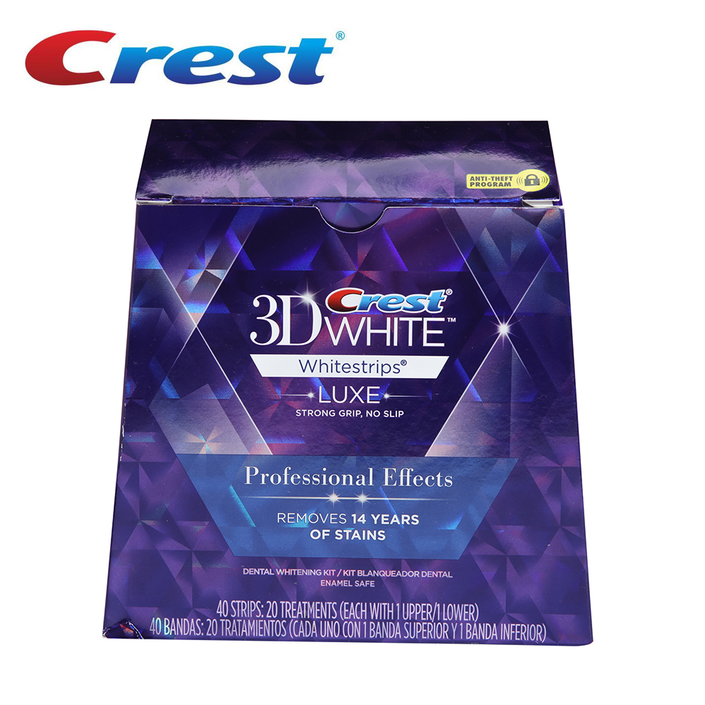 Original Crest White strips oral hygiene tooth teeth whitening 3D White LUXE Professional Effect White strips dental white Teeth crest brilliance white toothpastes tooth paste oral hygiene teeth whitening gum care dissolving polishing complex 2 pcs pack