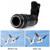 Lentes de ojo de pez de Gran Angular Macro lente para el teléfono móvil 12X Zoom Telescopio Teleobjetivo Lentes Trípode Luz de Flash Del Obturador