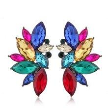 hot deal buy new jewelry fashion charming rhinestone earring shining stone brand earrings for women earrings black fashion jewelry