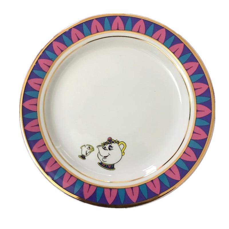 20CM beauty and the beast ceramic plate creative tableware coffee ...