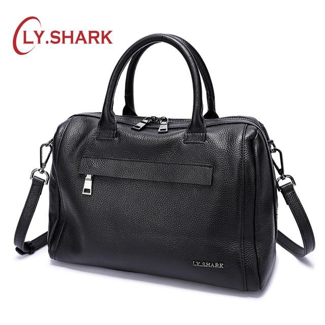 LY SHARK Genuine Leather Women Bag Shoulder Bag Ladies Crossbody Bag Women Handbags Messenger Bag For