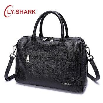 LY.SHARK Genuine Leather Women Bag Shoulder Bag Ladies Crossbody Bag Women Handbags Messenger Bag For Women 2019 Handbags Female