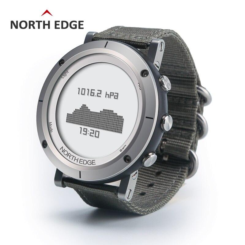 Uomo di sport esterno digitale smart watch impermeabile 50 m pesca Altimetro Barometro Termometro Bussola Altitudine ore NORD BORDO
