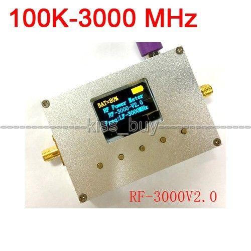 100K-3000MHz/10000MHZ OLED RF Power Meter -75~+15 dBm + Sofware RF Attenuation Value100K-3000MHz/10000MHZ OLED RF Power Meter -75~+15 dBm + Sofware RF Attenuation Value