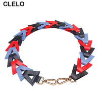 CLELO 2017 New Fashion Design Triangle Straps for Handbags Belts For Women Shoulder Messenger Bags Stylish Bag Accessories