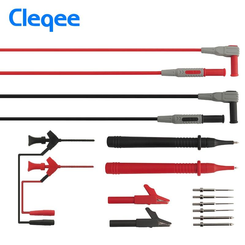 Cleqee P1300B 12-in-1 Super Multimeter Sonde Austauschbare Sonde Clamp Multi Meter Messleitung kits + Krokodilklemmen