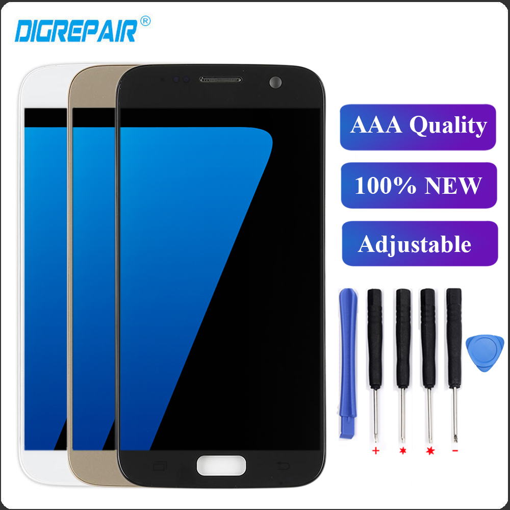 Cellphones & Telecommunications For Samsung Galaxy S7 Lcd Display G930f G930a G930v Lcd Touch Screen Frame Replacements S7 Digitizer For Samsung S7 Lcd Display Providing Amenities For The People; Making Life Easier For The Population