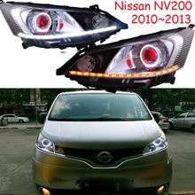Fit สำหรับ RHD LHD จอแสดงผลรถสำหรับ NV200 ไฟหน้า 2009 ~ 2014 ปี NV200 ไฟหน้า NV 200 DRL HI LO HID Xenon