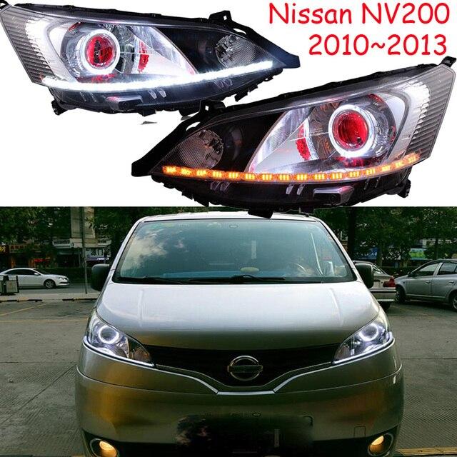 Luz delantera de coche para pantalla de vídeo RHD LHD, faros delanteros NV200 de 2009 a 2014, faro delantero NV200 NV 200 DRL HI LO HID de xenón