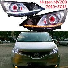 مناسب ل RHD LHD عرض الفيديو سيارة رئيس ضوء ل NV200 المصابيح الأمامية 2009 ~ 2014 سنة NV200 العلوي NV 200 DRL مرحبا لو HID زينون