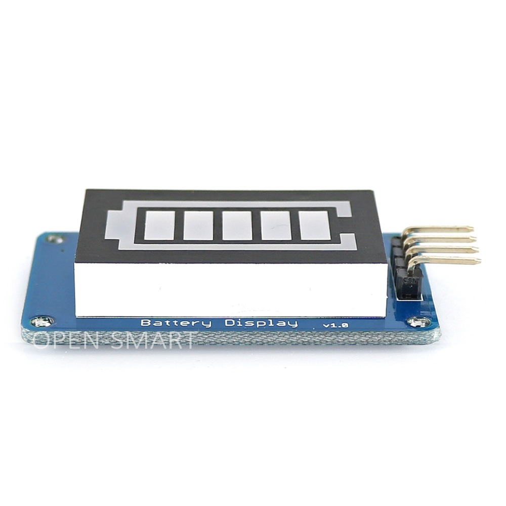 Battery Style Digital Tube LED Battery Level Display Module Green inside and Red outside for Arduino
