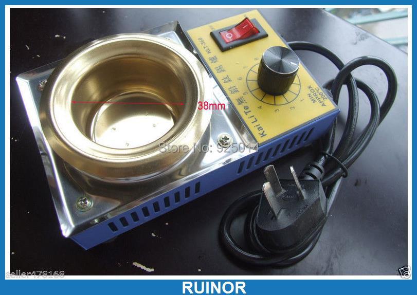 цена на AC 220V 100W  Diameter  38MM Solder Pot 300g tin melting Furnace Titanium FREE SOLDERING