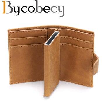 Bycobecy 新 pu レザー自動カード財布クレジットカードボックスピックアップホルダー抗 Rfid 財布ビジネスカードホルダークレジットカードパッケージ
