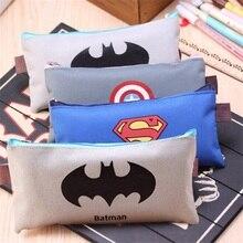 (1Pc/Sell) Superman Comic Hero Pencil Case School Supplies  Stationery Gift Estuches Cute Box Pencilcase Bag