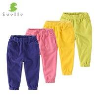 SVELTE Brand Kids Boys Girls Casual Polar Fleece Solid Pants Trousers For Spring Autumn Unisex Children