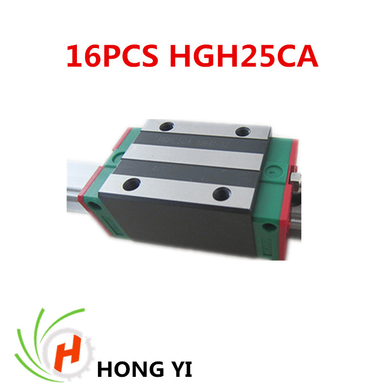 16pcs / lots HIWIN HGH25CA linear blocks for CNC linear guide