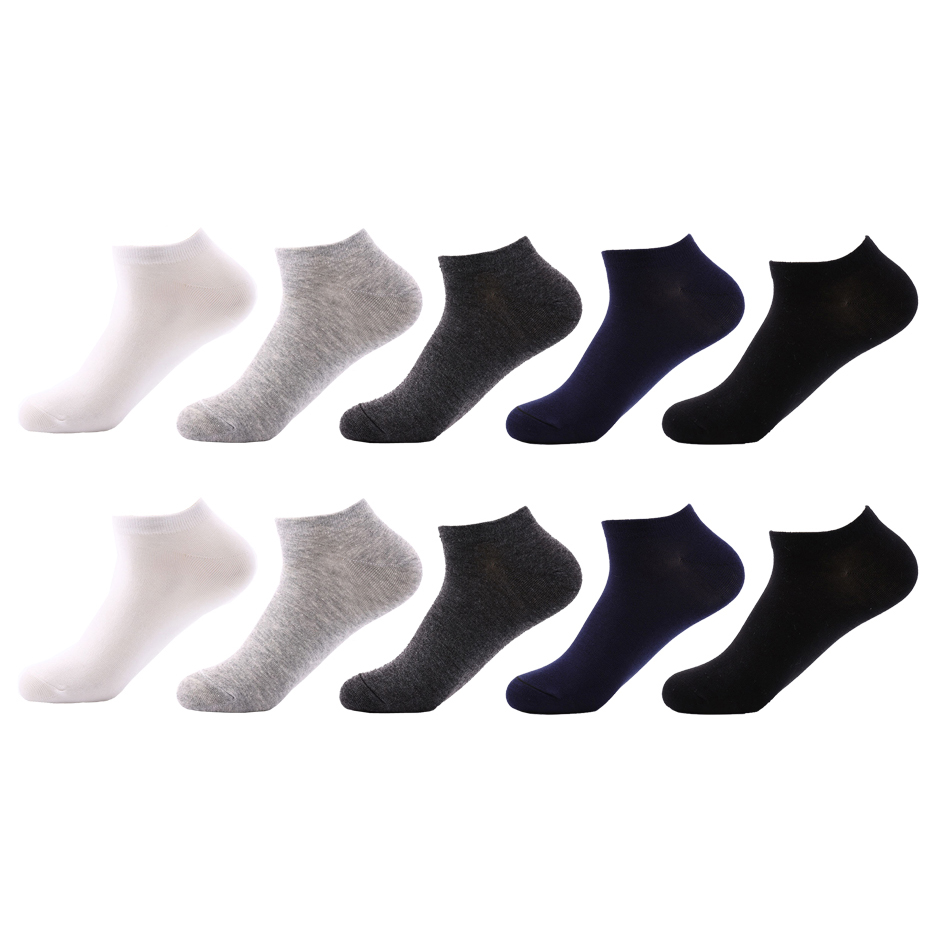 10 Pairs High Quality Casual Men's Business Socks Cotton Brand Sneaker Socks Quick Drying Black White Short Sock For Men
