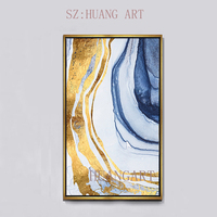 Cheap Hand Painted Wall art Picture Abstract oil painting on canvas gold montains for Living room Entrance home decor unframed