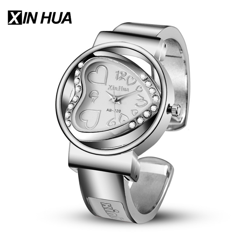 2017 XINHUA Watches Women Stainless Steel Bracelet Bangle Rhinestone Designer Luxury Party Dress Female Clock Relogios Feminino цена