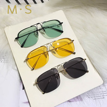 MS 2019 New Oversize Fashion Brand Pilot Sunglasses Unisex