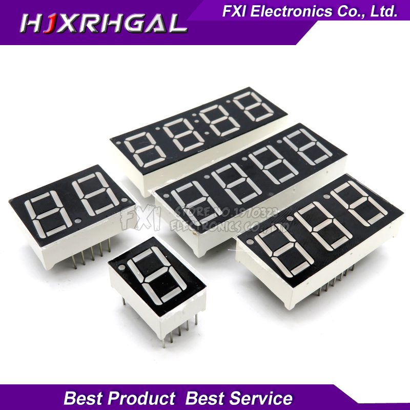 5pcs Digital Tube Segment Common Anode Common Cathode AS Red 1 2 3 4 Bit Time Digital Tube 0.56 Inch 12 Needles Red LED Display