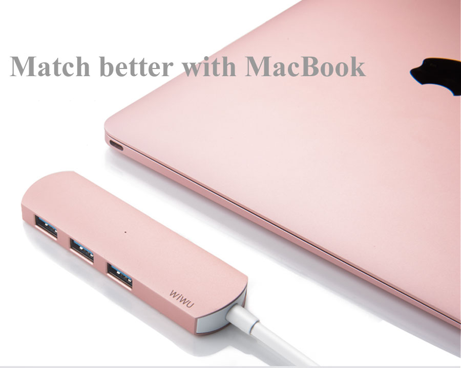 WIWU USB 3 0 Hub for MacBook Pro Super Speed External 3 Port USB Adapter Interface for Macbook Air Laptop PC Computer Hubs 3 0 in USB Hubs from Computer Office