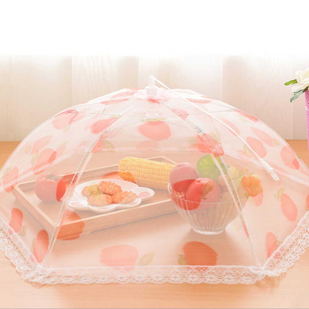 Hexagon Kasa Makanan Cover Mode Payung Piknik Anti Terbang Kelambu Tenda Makanan Penutup Meja Mesh Makanan Penutup Alat Dapur