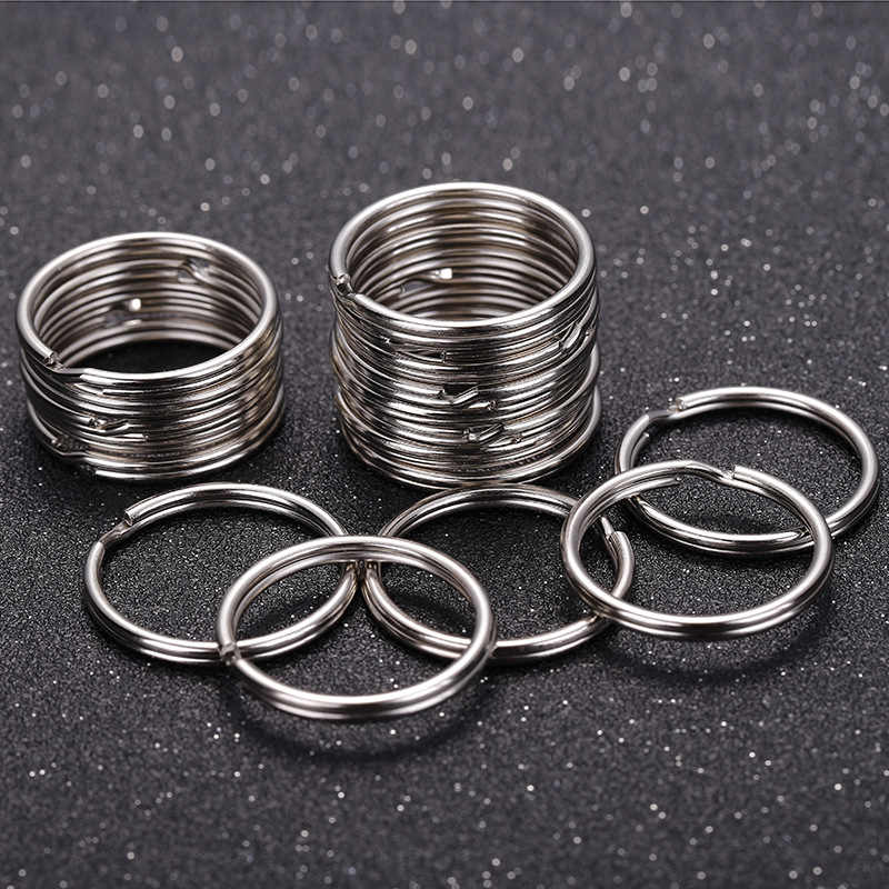 10/40pcs 20/25mm Polished Silver Color Keyring Keychain Split Key Rings Link Circle Women Men DIY Key Chains Accessories
