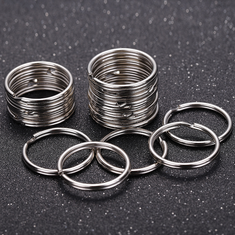 10/40pcs 20/25mm Polished Silver Color Keyring Keychain Split Key Rings Link Circle Women Men DIY Key Chains Accessories