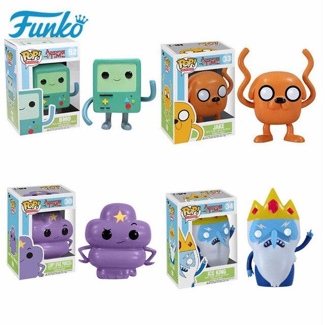 Funko Pop Kids Favor Cartoon Adventure Time Bmo Jake Action Figure Vinyl Poppen Ice King Collectible Model Toys Voor Verjaardag gift