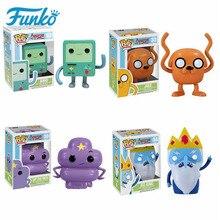 Funko pop crianças favor dos desenhos animados aventura tempo bmo jake figura de ação de vinil bonecas gelo rei collectible modelo brinquedos para presente aniversário