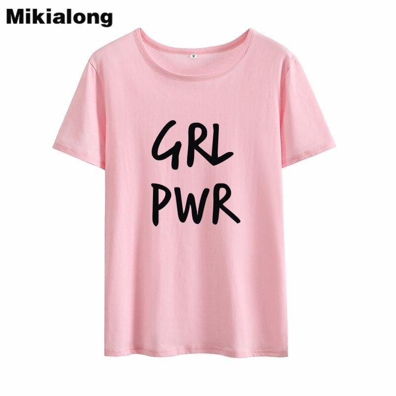 Mrs win GIL PWR Feminist Tshirt Women Streetwear Korean T Shirt Women Short Sleeve Novelty 2018 Tee Shirt Women Summer Clothes